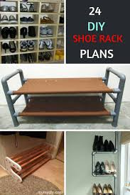 24 diy shoe rack plans