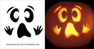 Ghost Pumpkin Carving Patterns