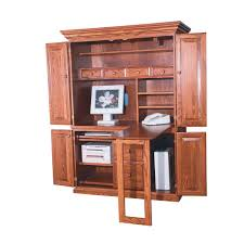 wooden desk armoire computer armoire office