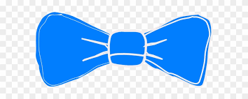 Bow Tie Template Blue Bow Tie Clipart Free Transparent