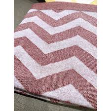 sandra red zigzag cotton throw blanket large2