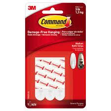 command medium refill strips white 9 strips pack