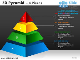 Pyramid Powerpoint 3d Pyramid Stacked Shapes Chart 4 Pieces Powerpoint Presentation Slid