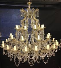 very large antique italian marie theresa glass chandelier c 1920 1 of 12