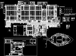 opera house plan dwg sea