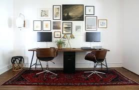 office area design. Two Person Desk Design For Your Wonderful Home Office Area Best Plus Rug And Small Wooden