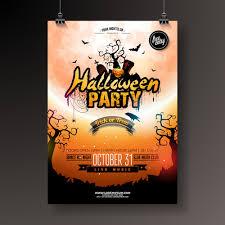 Halloween Dance Flyer Templates Creative Halloween Party Flyer Template Vector 02 Free Download