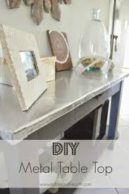 industrial furniture ideas. DIY Metal Table Top - And Hearth Featured On Kenarry: Ideas For The  Home Industrial Furniture Ideas F