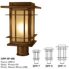 Arroyo Craftsman Post Lights Arroyo Craftsman Opp Oak Park Mission Outdoor Lighting Post Light Mount