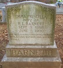 Emma Priscilla Goode Barnett (1868-1930) - Find A Grave Memorial