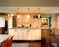 natural maple kitchen cabinets Kitchen Contemporary with cooktop
