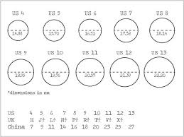Ring Size Chart   A. 1. Rings   Pinterest   An, Wedding and Lifestyle