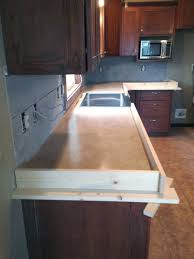 Cement Over Tile Countertops Diy Concrete Counters Poured Over Laminate Averie Lane Diy