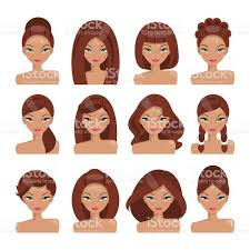 Diffrent Hair Style set of girls with different hairstyles stock vector art 506179744 1809 by wearticles.com