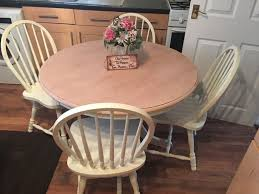 shabby chic round dining table and chairs