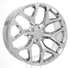 22 inch Chrome Snowflake for Chevy Silverado, Tahoe, Suburban