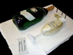 Champagne Bottle And Glass 40th Birthday Cake Cakecentralcom
