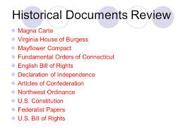 historical documents review magna carta virginia house of burgess  historical documents review magna carta virginia house of burgess flower compact fundamental orders of connecticut english