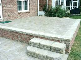 installing pavers over concrete over patio backyard installing concrete pavers patio