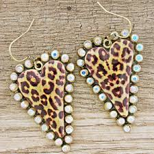 quick view earring 1392 18 trere crystal heart leopard clear ab