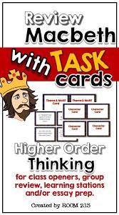 best macbeth review ideas teaching language macbeth task cards for h o t review of the play