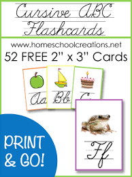 Cursive Abc Flashcards And Posters Free Printables