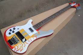 Factory 4 Strings Rosewood Fingerboard Model 4003 Left Handed Electric Bass Guitar With Chrome Hardware White Pickguard Offer Customize Bass Guitar