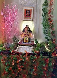 decoration of ganesh chaturthi at home home design decor