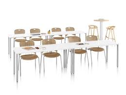 herman miller everywhere table. A Training Setting Featuring Two Rows Of Rectangular Everywhere Tables And Brown Caper Stacking Chairs. Herman Miller Table