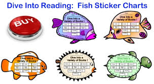 Reading Sticker Chart Dive Into Reading Sticker Charts Fish Shaped Incentive