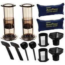 Use espresso to make lattes, cappuccinos, and other coffee shop favorites right in your own kitchen. Shop Aeropress Coffee And Espresso Maker And Frother Set 2 Pack Free Shipping Today Overstock 22692847