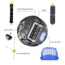 Bộ Chổi Cọ Thay Thế Cho Robot Hút Bụi iRobot Roomba 500 / 600 / 700 / 528 /  595 / 620 / 650 / 760 / 770 / 780 / 790
