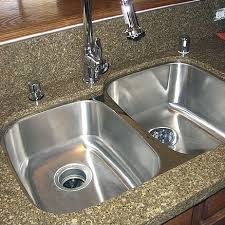 kitchen sinks for granite countertops. Undermount Double Bowl Stainless Steel Kitchen Sink Fitted To The Bottom Of A Granite Countertop Sinks For Countertops O