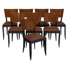 Art deco period furniture Dining Room French Antique Dealers Set Of Eight Art Deco Period Dining Chairs