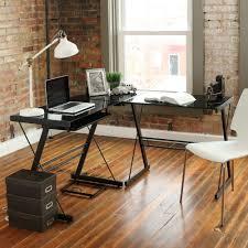 full size of desks walker edison l shaped glass computer desk glass corner desk
