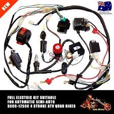 complete ultima led electronic wire wiring system harness kit motorcycle electric remote wiring harness loom solenoid coil 125cc atv quad bike