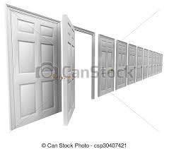 open and closed door clipart. Drawn Doorway Closed Door #3 Open And Clipart