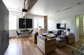 apt furniture small space living. Amazingly Modular Small Family Apartment With Lots Of Playful Spaces Photo Apt Furniture Space Living