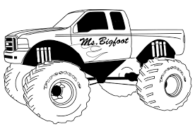 Coloring Pages Monster Trucks Free Printable Monster Truck Coloring