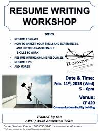 Resume Workshop Best Resume Writing Workshop College Of Science Engineering