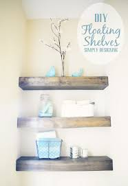 diy floating shelves how to build floating shelves these make a perfect shelf for bathroomcute diy office homemade desk