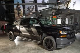 Truck black chevy truck : Black Ops Silverado part of Chevy military salute | Fleet Owner