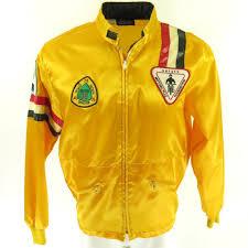 Vintage 70s Racing Jacket Mens L Motorcycle Safety Crown of ...