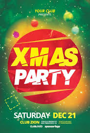 Free Party Flyer Templates X Mas Party Free Flyer Template For Dj Party Events