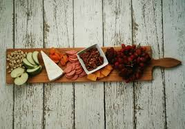 36 inch large wooden serving platter cheese board in oak by red maple run cutting board gift for foo