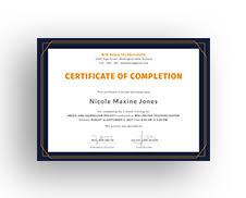 free training completion certificate templates free course completion certificate template in adobe photoshop