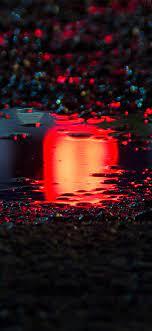 bf60-rain-red-bokeh-water-asphalt-art-light