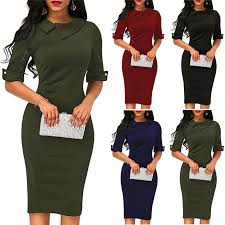 Zipper O Neck Sexy Half Sleeve Bodycon Pack Hip Dress High Quality Casual Autumn Women Dresses