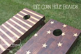 Wooden Corn Hole Game Stars and Stripes Corn Hole Boards DIY Tutorial DIY home decor 36