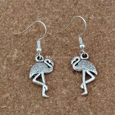 Großhandel Flamingo Crane Ohrringe Versilbert Fisch Ohr Haken Antik Silber Kronleuchter Schmuck 12x405mm A 272e Von Bead118 1857 Auf